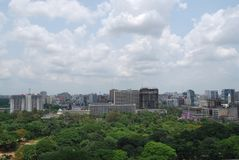 SECRETARIAT OF DHAKA CITY BANGLADESH. Bangladesh Secretariat, also known as Bangladesh Sachibalaya or Old Secretariat, is the administrative headquarters of the royalty free stock images