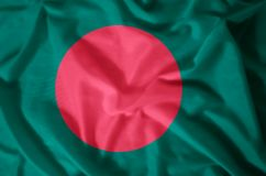 Bangladesh. Stylish waving and closeup flag illustration. Perfect for background or texture purposes vector illustration