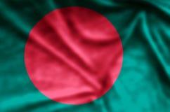 Bangladesh. Stylish waving and closeup flag illustration. Perfect for background or texture purposes stock illustration