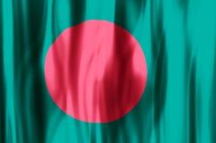 Bangladesh. Stylish waving and closeup flag illustration. Perfect for background or texture purposes royalty free illustration