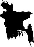 Bangladesh vector map outline Royalty Free Stock Photography