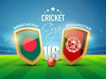 Bangladesh Vs Afghanistan Cricket match concept. Royalty Free Stock Photography