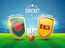 Bangladesh Vs Sri Lanka Cricket match concept. Royalty Free Stock Photos