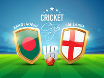 Bangladesh Vs Sri Lanka match concept. Royalty Free Stock Photo