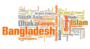 Bangladesh words Royalty Free Stock Photos