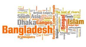 Bangladesh words Royalty Free Stock Photos