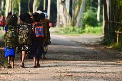 Young kids are going to school in Bangladesh unique photo stock photos