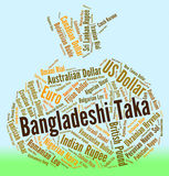 Bangladeshi Taka Represents Foreign Exchange And Coinage. Bangladeshi Taka Meaning Exchange Rate And Bdt Royalty Free Stock Photography