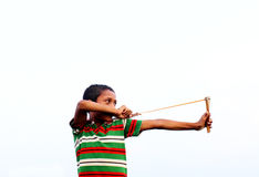 Bangladeshi young bird hunter Stock Photo
