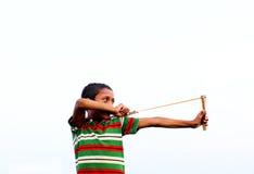 Bangladeshi young bird hunter stock photo