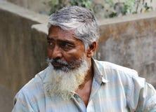 Bangladeshisk gamal man Arkivfoto