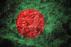 Bangladesz flaga na kamiennym tle ilustracji
