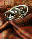 Bangle Bracelets. A pile of bangle bracelets on a scarf Royalty Free Stock Photo