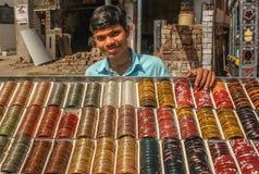 Bangle cart vendor Stock Photos
