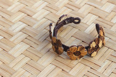 Bangle from coconut shell 2 Stock Images