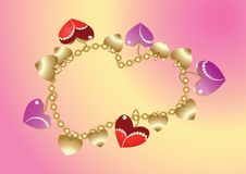 Bangle with hearts Royalty Free Stock Images