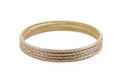 Bangle, Indian bracelets isolated Royalty Free Stock Photos