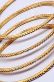 bangles золотистые Стоковые Изображения