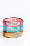 Bangles. Colorful and fashionable bangles for women Stock Photo