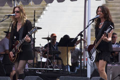 The Bangles. Susanna Hoffs and Vicki Peterson of the Bangles stock photos
