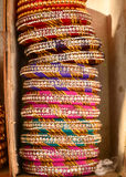 Bangles in bangle shop India Stock Images