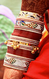 Bangles and bracelets Royalty Free Stock Photo