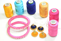 Bangles and Ear Rings Royalty Free Stock Images