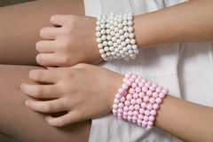 Bangles made of beads Stock Photography