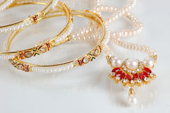 Bangles & necklace Royalty Free Stock Image