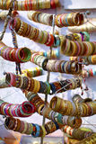 Bangles ornaments on the market in India Stock Photography