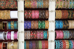 Bangles for Sale at the Market Stock Image