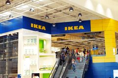 BANGNA, THAILAND-february 2, 2019: Ikea store of Thailand. IKEA is the world`s largest furniture retailer and sells ready to royalty free stock photo