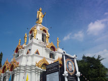 Bangnampheung Nai寺庙, Samutprakan 免版税库存图片