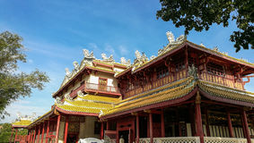 BangPaIn皇家城堡在泰国 免版税库存图片