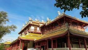 BangPaIn kunglig slott i Thailand Royaltyfria Bilder
