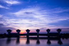 Bangpakong watergate Royalty Free Stock Image
