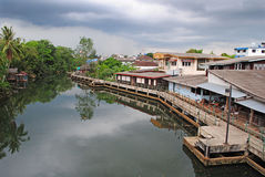 Bangpra river of Trat, Thailand. Trat province, city of Thailand Stock Photos