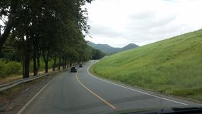 Bangpra tama w zieleni polu na drodze Zdjęcia Royalty Free