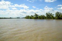 Bangprakong flod i chachoengsaoen Thailand Royaltyfri Fotografi