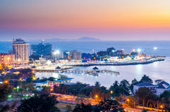 Bangsaen miasto Zdjęcie Royalty Free