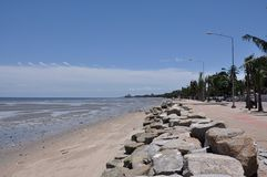 Bangsaen strand Royaltyfri Bild