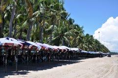 Bangsaen strand Arkivfoto