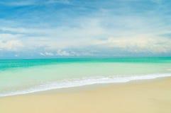 Bangsak beach on blue sky  at khao lak Phangnga province Royalty Free Stock Images