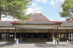 Bangsal Kencana, un pasillo dentro del palacio del sultanato de Yogyakarta Imágenes de archivo libres de regalías