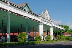 Bangsal Pagelaran, передняя зала дворца султаната Yogyakarta Стоковое фото RF
