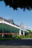Bangsal Pagelaran, el pasillo delantero del palacio del sultanato de Yogyakarta Imagen de archivo libre de regalías
