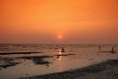 Bangsan hav av Thailand Royaltyfri Bild