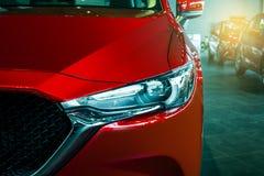 BANGSAN, TAJLANDIA CZERWIEC 2018 Ten Frontowy samochód wszystkie nowy Mazda cx 5 b zdjęcia royalty free