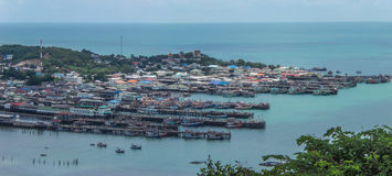Bangsarey-Dorf auf dem Meer Stockbild