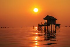 Bangtaboon de lever de soleil Images stock